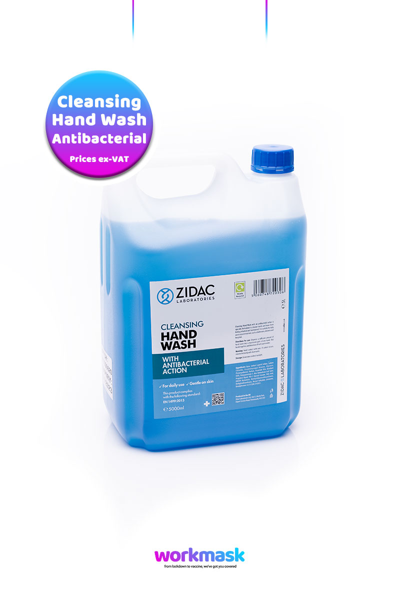 Antibacterial-Cleansing-Hand-Wash-5lt-Container-Zidac-Laboratories-by-Workmask-800x1200px-Hero-Image